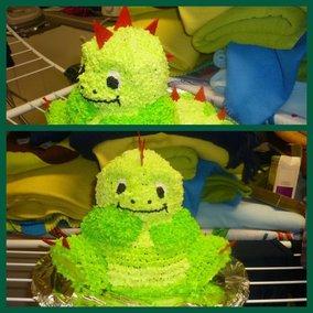 Deze taart heb ik verleden jaar voor de 3de verjaardag van onze zoon Thomas gemaakt