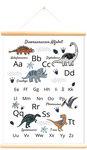 Schoolplaat dinosaurussen alfabet