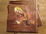 Laatste-servetten-dinosaurusfeest-(bruin)(16x)