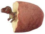 Dino ei (rood/steen)