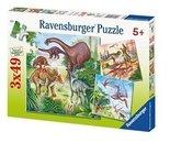 49 stukjes (3x) Dinosaurus Ravensburger Puzzel
