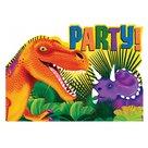 Uitnodiging dinosaurus