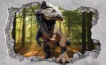 T-rex in het bos