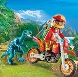 Motorcrosser met Raptor