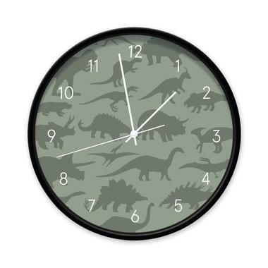 Dinosaurus klok (donker groen)