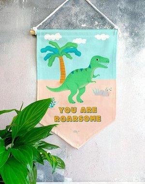 Dinosaurus vlag/banner