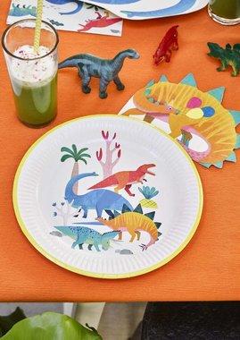 Bordjes (8x) (Dinosaurus Feest)