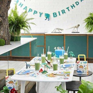 Grote Happy Birthday slinger (Dinosaurus Feest)