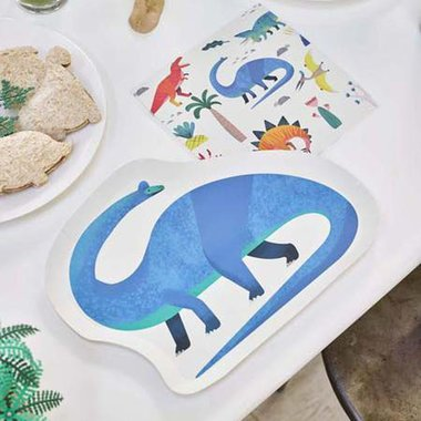 Brontosaurus bordjes (12x) (Dinosaurus Feest)