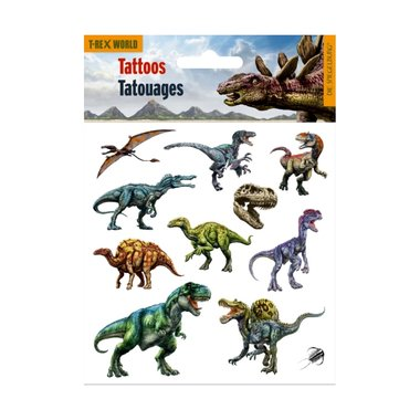 Dinosaurus Tattoo  (12 stuks)