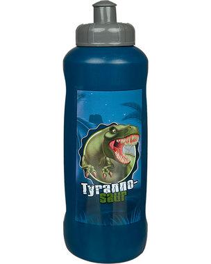 Dinosaurus drinkflesje 450 ml -blauw