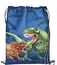 Dinosaurus zwemtas/gymtas - blauw