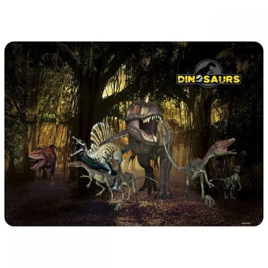 Dinosaurus placemat (dino's in the bos)