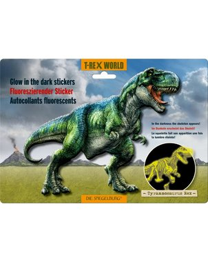 Glow in the dark muursticker T-rex