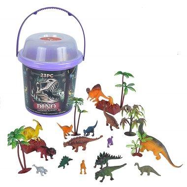 Dinosaurus speelset (ton) 23 speelfiguren