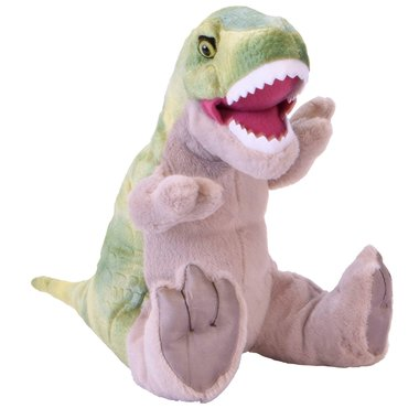 T-rex Rex knuffel met geluid (lengte 35 cm)