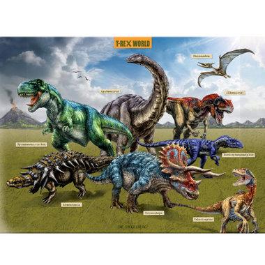 Dinosaurus Bureau-onderlegger (52,5 x 37,5 cm)