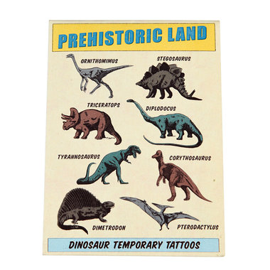 Dinosaurus Tattoo Prehistoric Land (16 stuks)