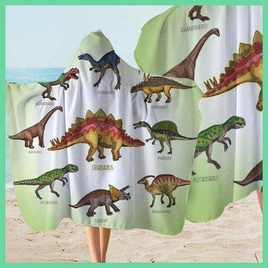 Dinosaurus badcape - handdoek (127x 152cm)