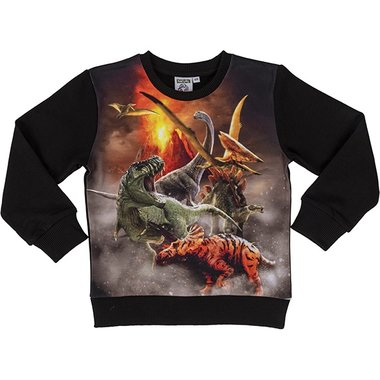 Dinosaurus sweater met verschillende dino's (maat 128-134)