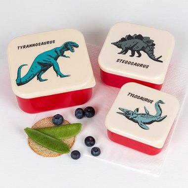Dinosaurus snackbakjes (3x)