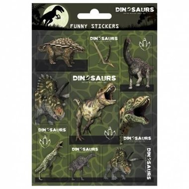 Dinosaurus stickervelletje (16 x)