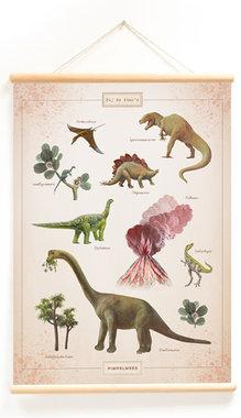 Schoolplaat bij de dino's (50 x 70 cm) - Little & Pure