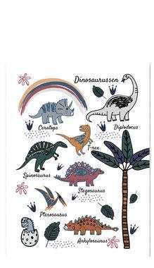 Poster dinosaurussen (dubbelzijdig) (50 x 70 cm)