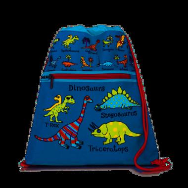 Dinosaurus (blauw) zwemtas/gymtas