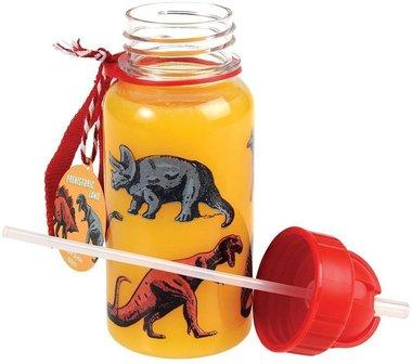 Dinosaurus drinkflesje 500 ml - doorzichtig