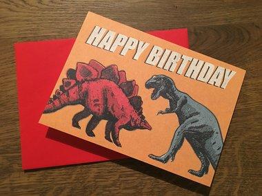 Verjaardagskaart Dinosaurus