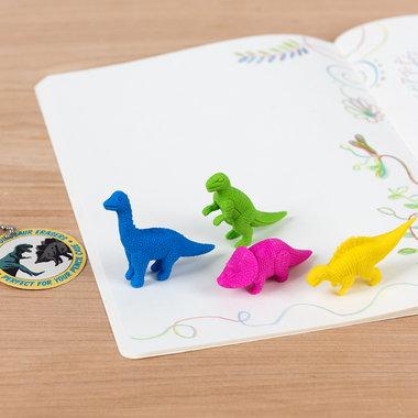 Dinosaurus gummetjes in een zakje (4x)