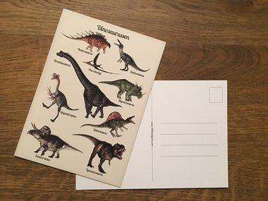 Ansichtkaart Dinosaurussen