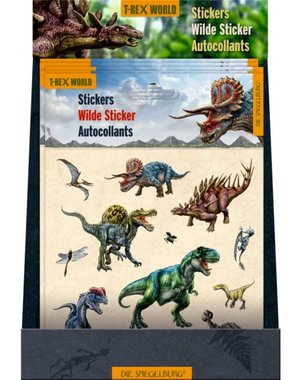Stickervel T-rex World (12 stickers)