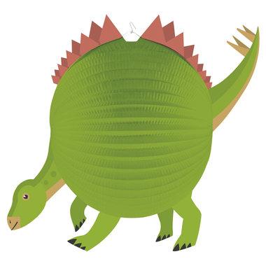 Dinosaurus lampion + houten stok - 25 cm