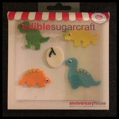 Dinosaurus Suiker Decoratie (5 stuks)