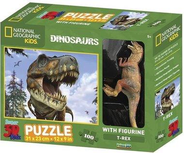 100 stukjes Dinosaurus 3D puzzel met speelfiguur