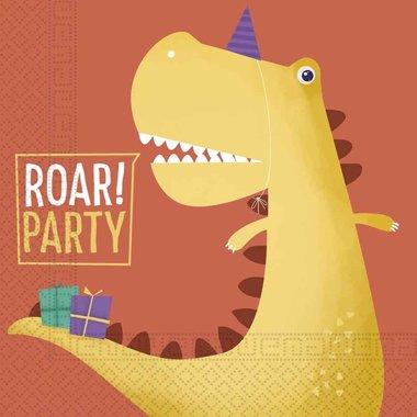 Servetten (20x) (Dino Roar party)