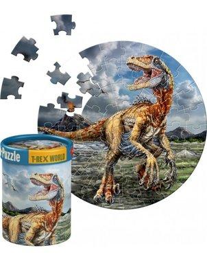 60 stukjes Mini Puzzel dinosaurus - T-rex World