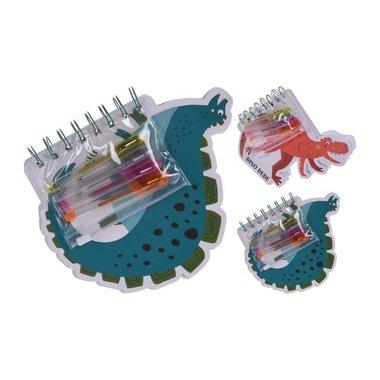 Dinosaurus notitieboekje met 4 gelpennen