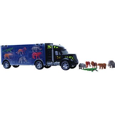 Safari Truck - auto met 12 dieren uit de jungle