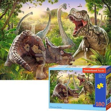 180 stukjes Dinosaur Battle puzzel