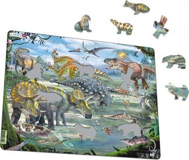 65 stukjes Maxi Dinosaurussen (Larsen)
