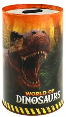 World of Dinosaurs spaarpot (metaal)