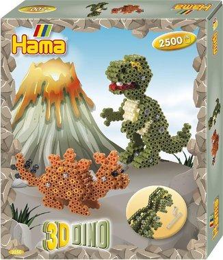 3D Dinosaurus strijkkralen - Hama (2500)
