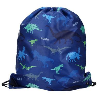 Dino blauw (zwemtas/gymtas)
