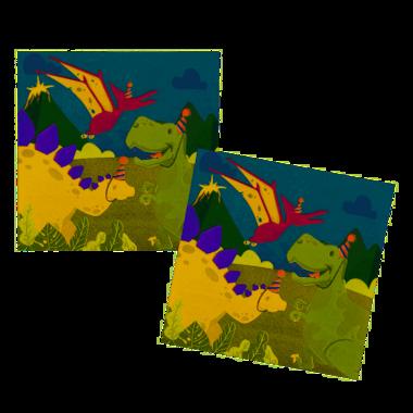 Servetten Dinosaurus (12x) (Verjaardagsfeest)