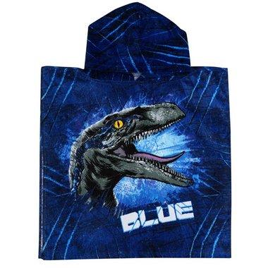 Badponcho Jurassic World - blauw - (50 x 100 cm)