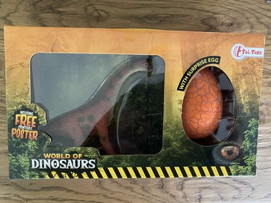 Speelgoed Brachiosaurus + Verrassings-ei
