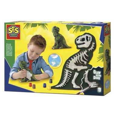 Gieten en Schilderen - T-Rex met Skelet (SES creatieve)